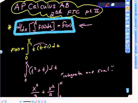 AP Calculus AB Demonstrating the Second Fundamental Theorem of Calculus Pt II.mp4