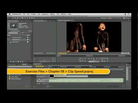 How to change the speed of video clips   lynda.com tutorial
