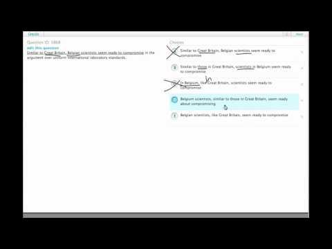 Grockit GMAT Verbal - Sentence Correction: Question 3868