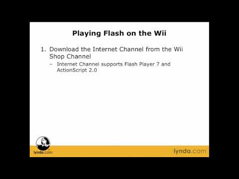 Flash Professional: Playing Flash on a Wii | lynda.com