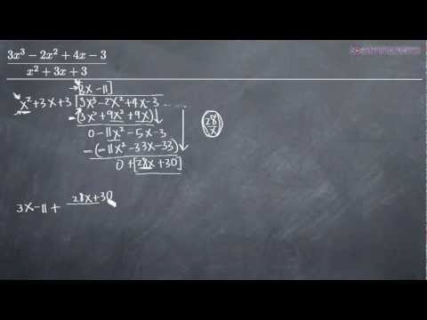 Long Division of Polynomials Example 1
