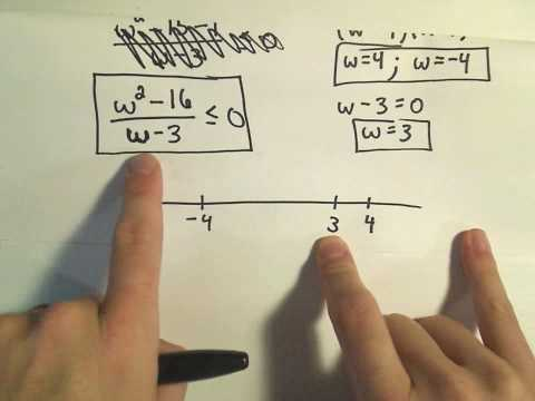 Solving a Rational Inequality, More Examples - Example 1