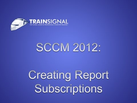 SCCM 2012 - Creating Report Subscriptions
