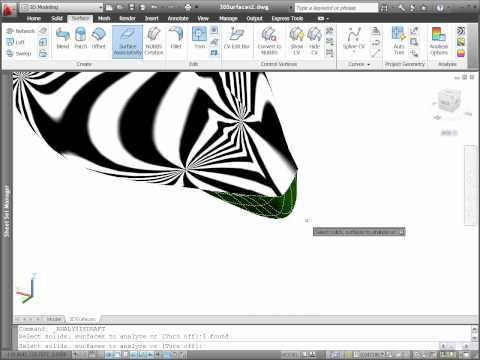 AutoCAD 2011 Surface Analysis