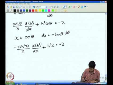 Mod-07 Lec-38 High Peclet Number Transport Heat Transfer from a Spherical Particle - II