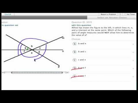 Grockit SAT Math - Multiple Choice: Question 3033