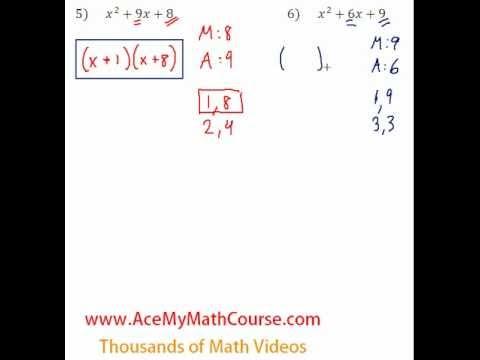 Polynomials - Factoring Trinomials Question #6