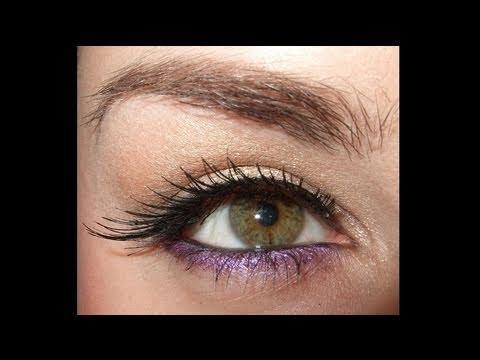 Rihanna S and M Make up look violet liner