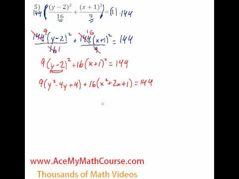 Conics - Standard to General #5