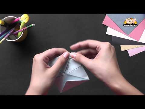 Origami - Make a Lotus with 4 Petals