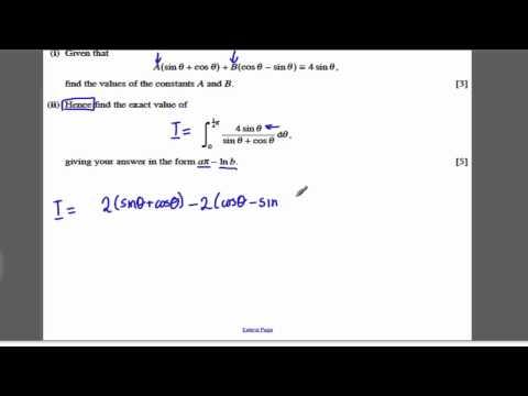 Core 4 OCR Maths Jan 2008 Q7 - Trig Calculus (3)