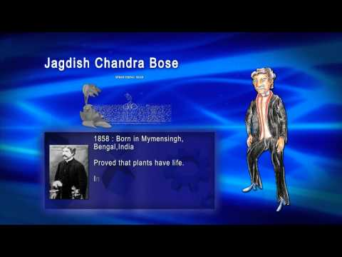 Top 100 Greatest Scientist in History For Kids(Preschool) - JAGDISH CHANDRA BOSE