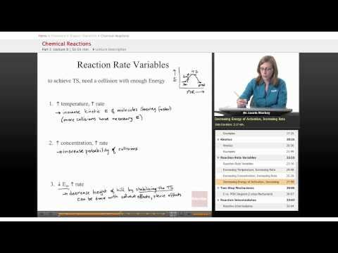 Organic Chemistry: Reaction Rate Variables