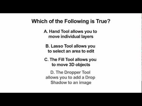 Learn Adobe Photoshop Quiz - Which is True?