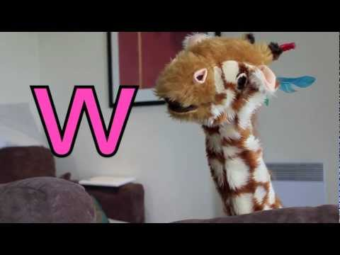 Geraldine the Giraffe learns the /w/ sound