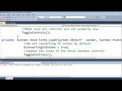 Visual C++ 2010 Express Tutorial 8 - Finished App