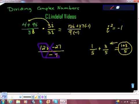 Dividing Complex Numbers conjugates