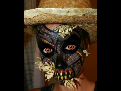 Halloween Series 2012: Scarecrow Halloween Makeup/ Face Painting tutorial