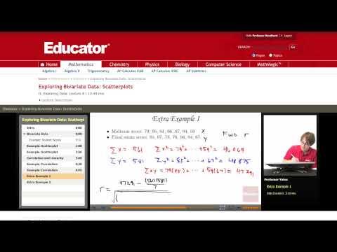 Statistics: Correlation (Bivariate Data)