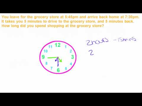 Basic Math Tutorial - 11 - Word Problems with Time