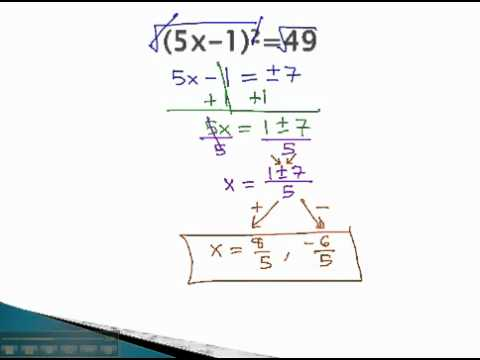Equations with Exponents - Even Exponents