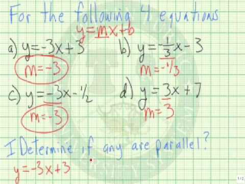 Determine if Two Lines are Parallel or Perpendicular