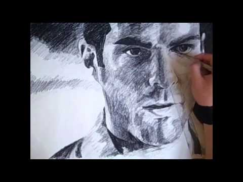Heroes Sylar (Zachary Quinto) Portrait Speed Drawing
