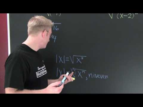 Why The Absolute value when Simplifying Roots.mov