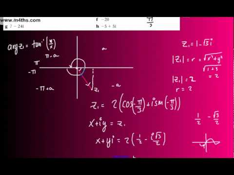 (19) FP1 Complex Numbers (Edexcel Further Pure Maths) - Polar Form r(cos0 + isin0) part 2