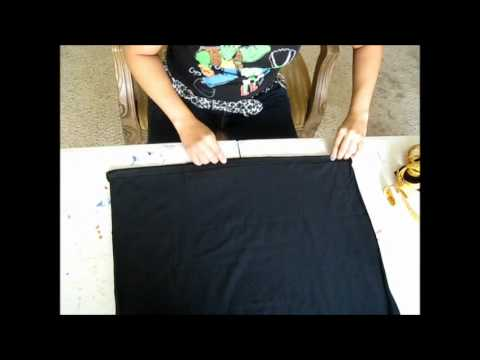 D.I.Y. Tutorial: How I make a pencil skirt with a t-shirt by BettieJoe88 PART 1