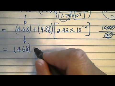 how to work with scientific notation and decimals