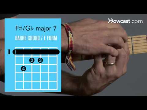 How to Play Guitar: Beginners / Barre Chords: F Sharp Major 7/G Flat Major 7