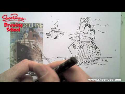 How to draw an Ocean Liner - a lesson in perspective