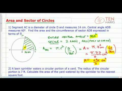 Circles - Area of a Sector