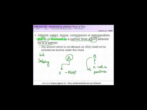 823. CA IPCC   PGBP   Chargeability   Interest, salary etc received by partner of a firm
