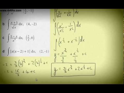 (13) Core 1 Messy Integration Examples 1