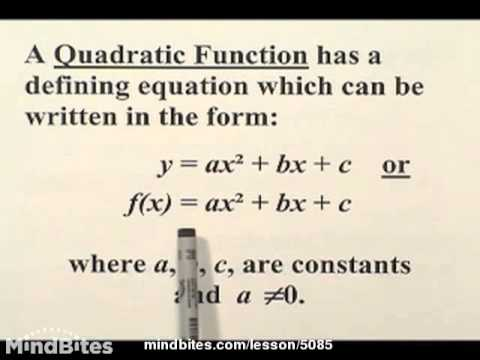 Algebra: The Quadratic Function  220