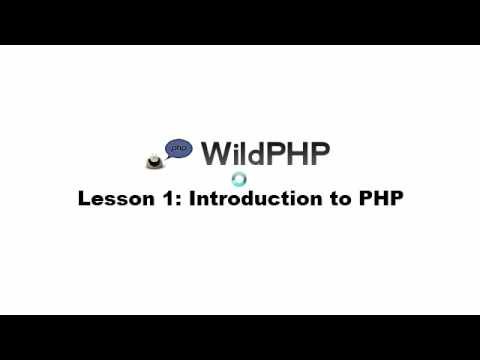 Wildphp - Lesson 1 - Introduction to PHP
