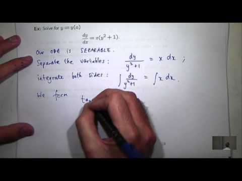 Separable Differential Equations. Chris Tisdell UNSW Sydney