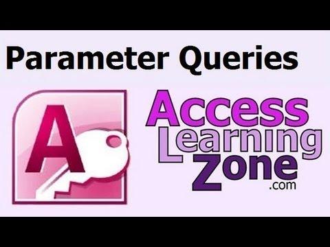 Microsoft Access Parameter Queries