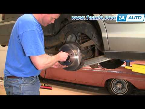 How To Install Replace Rear Disc Brakes Ford Crown Victoria Mercury Grand Marquis 98-02 1AAuto.com