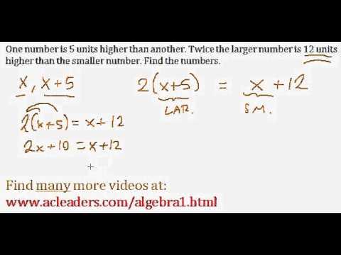 Word Problems (Algebra 1) - #6