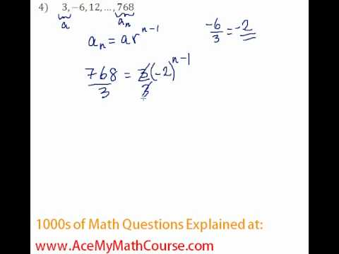 Geometric Sequences - Finding the Number of Terms #4