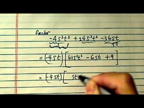 how to factor polynomials (needs GCF first)