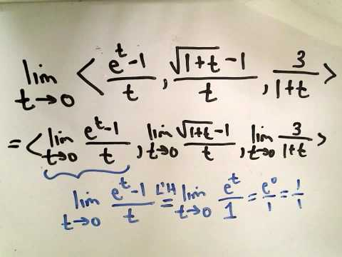 Finding the Limit of a Vector Function