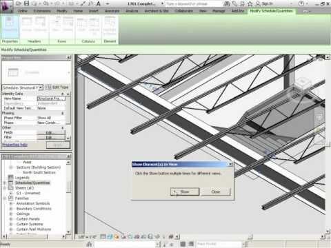 InfiniteSkills Tutorial | Revit Structure 2012 Training - Make a Beam Schedule