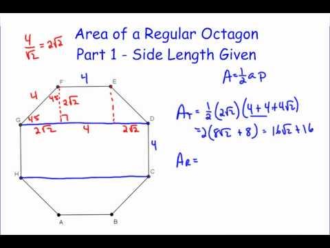 Area of a Regular Octagon - Part 1