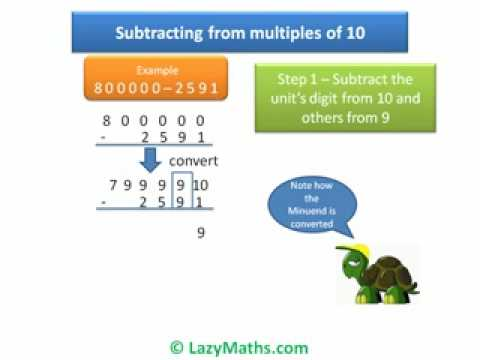 Ex 2  Subtracting Numbers from multiples of 10
