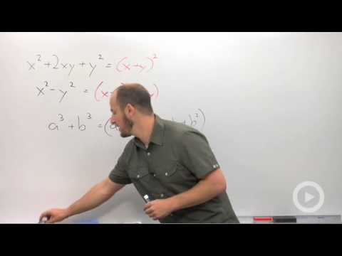 Algebra 2 - Factoring the Sum or Difference of Cubes