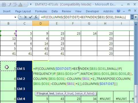 Excel Magic Trick 473: Extract Unique Records with Formula (Complex Array Formula)